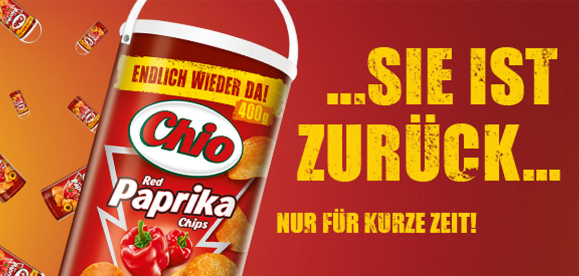 Chio Chips Red Paprika Trommel