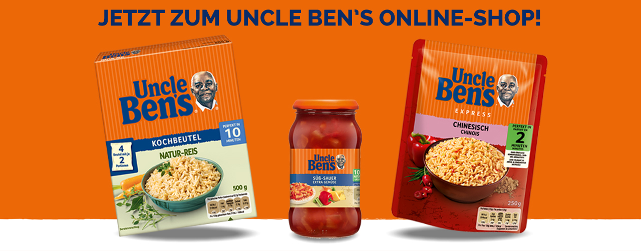 Uncle Ben's Online-Shop